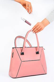 Сумка женская розовая AAA 123317S