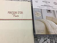 Постельное белье Maison D'or Best Model крем сатин с вышивкой евро