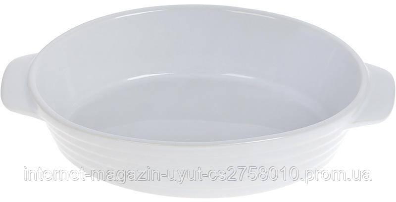 Форма Augsburg овальная для выпечки 24х14.5х5.5см керамическая (белая)