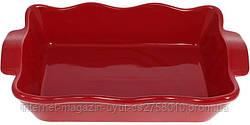 """Форма Augsburg """"Волна"""" прямоугольная для выпечки 38х23х8.2см керамическая (красная)"""