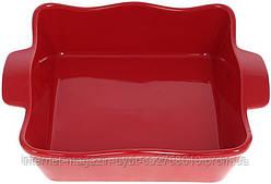 """Форма Augsburg """"Волна"""" прямоугольная для выпечки 29х23х7.5см керамическая (красная)"""