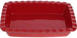 """Форма Augsburg """"Волна"""" прямоугольная для выпечки 30х21.3х6см керамическая (красная)"""