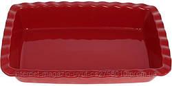"""Форма Augsburg """"Волна"""" прямоугольная для выпечки 33х22.7х6см керамическая (красная)"""
