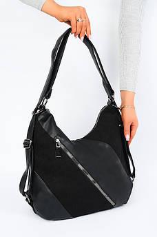 Сумка-рюкзак женская черная AAA 123313S