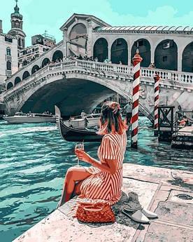 Картина по номерам Mariposa Влюбленная в Венецию (MR-Q2271) 40 х 50 см