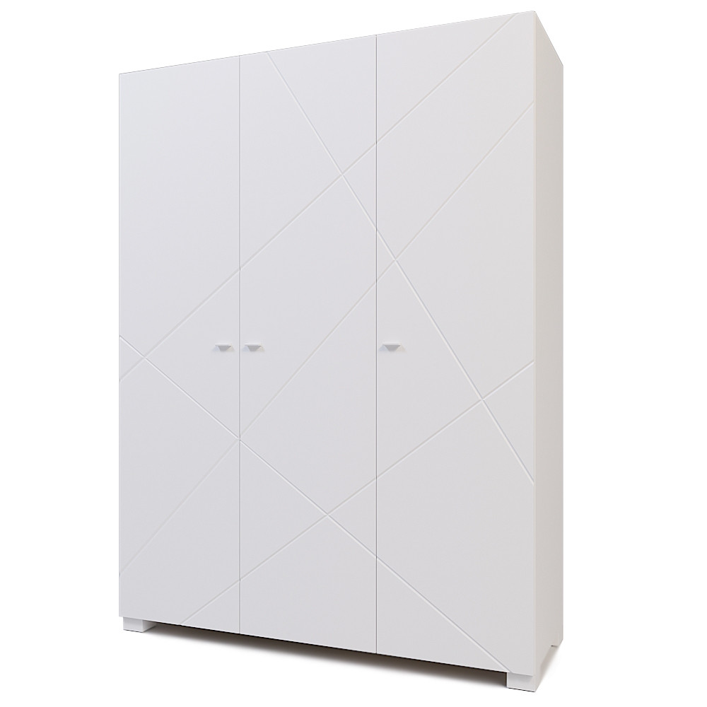 Шкаф трехстворчатый Х-Скаут Х-27 белый мат/белый