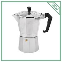 Гейзерная кофеварка из алюминия газовая легкая на 6 чашек 2082