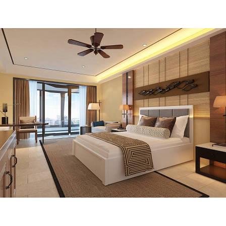 Ліжко деревяннаяс підйомним механізмом і м'яким узголів'ям Верона , ArtWood колір білий, фото 2