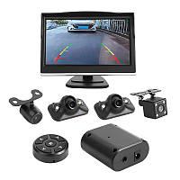 Система кругового обзора автомобиля MSTAR 360/5, коммутатор парковочных камер 360° Around View с 5 монитором