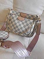 Сумка луи витон через плечо  It Люкс  Louis Vuitton.  Клатч реплика тройка мульти пошет в цвете, фото 1