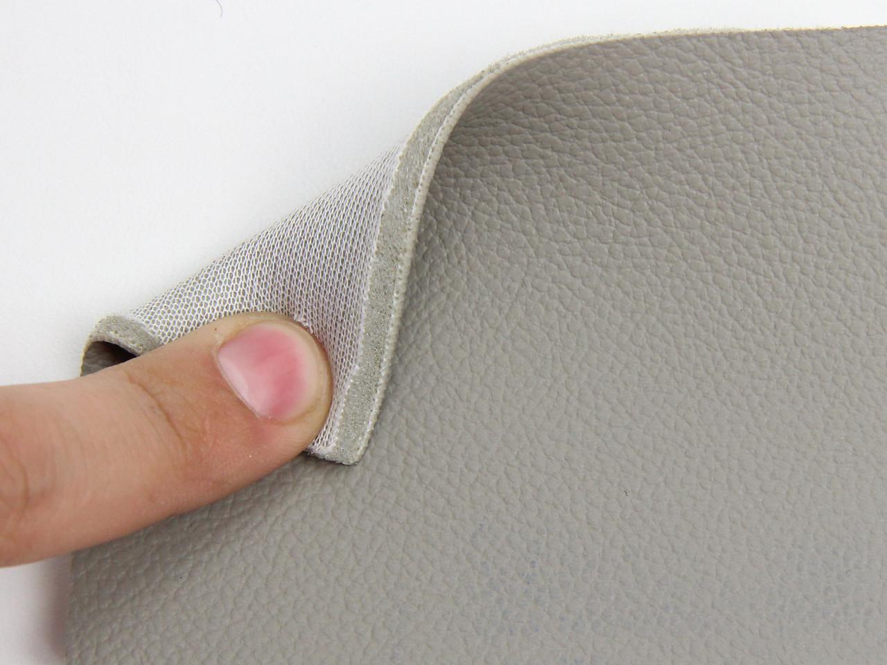 Автомобильная экокожа 10-321 (серий беж) для сидений на поролоне и сетке 5мм, ширина 1.50м
