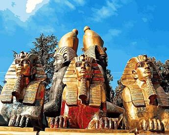 Картина по номерам Mariposa Величественные пирамиды (MR-Q2282) 40 х 50 см