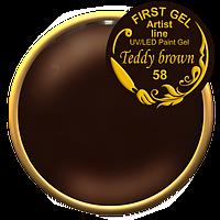 Гель краска teddy brown first