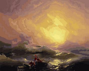 Картины по номерам 40×50 см Babylon Девятый вал Художник Иван Айвазовский (VP 1429-46)