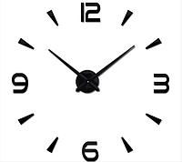 Настенные 3d часы DIY CLOCK в класическом стиле Для офиса и гостиной Черные Живые фото