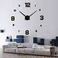 Часы настенные DIY Clock NEW с цифрами Самоклеющиеся Черные 60-120 см Оригинальные фото