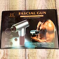 Профессиональный мышечный портативный ручной массажер для тела 4 насадки Fascial Gun ФОТО