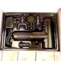 Массажный пистолет Аккумуляторный массажер для тела мышечный портативный ручной Fascial Gun KH-32 ФОТО