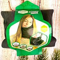 Дорожная подушка для сна в машину самолет поезд Подушка-шарф Travel Pillow Настоящие фото