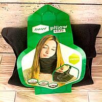 Подушка-шарф для шеи Travel Pillow для путешествий Удобная дорожная подушка для сна в машину самолет ФОТО