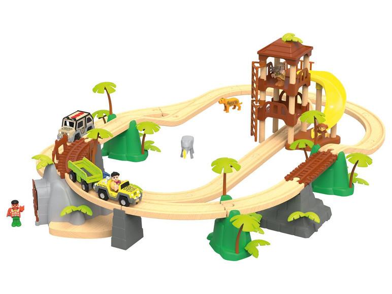 """Дерев'яна залізниця """"Джунглі"""" PlayTive Junior 3,7 м 45 ел Німеччина"""