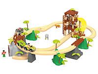 """Дерев'яна залізниця """"Джунглі"""" PlayTive Junior 3,7 м 45 ел Німеччина, фото 1"""