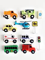 Набор машинок для деревянной железной дороги PlayTive Brio Ikea 3, фото 1