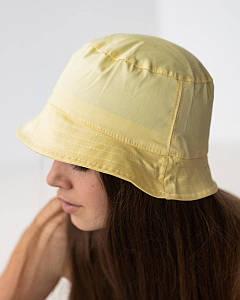 Панамка на літо для дівчинки однотонна жовта оптом - Артикул 2021