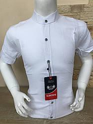 Дитяча лляна сорочка з коротким рукавом 4-7
