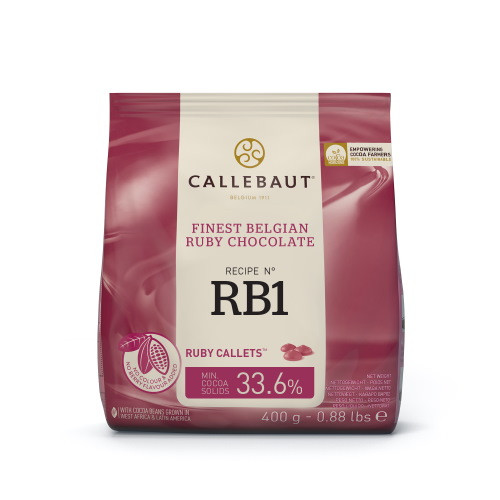 Шоколад бельгійський Ruby Callebaut 400г