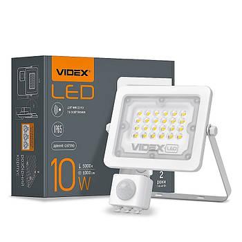 LED прожектор VIDEX 10W с датчиком движения и освещенности IP65