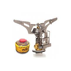 Горелка газовая сложный с пьезоподжигом Tramp TRG-008. Горелка туристическая