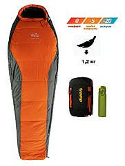 Спальный мешок Tramp Fjord Compact TRS-049R. Туристический спальник. спальник кокон