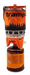 Система для приготовления пищи на 1 л. Tramp TRG-115-orange. Горелка туристический. Горелка