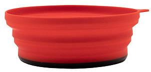 Тарелка Tramp силиконовая с пластиковым дном терракот 550 мл TRC-123