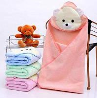 Детское полотенце-уголок для купания / полотенце с капюшоном / детское полотенце с уголком 85х85 см