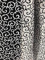 Щільна шторна тканина велюр блекаут софт двостороння з завитками, висота 2.8 м на метраж (211), фото 2