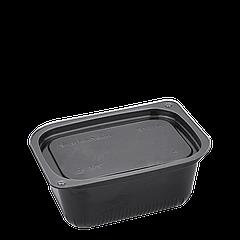 Соусница (черная) пластиковая с крышкой 80мл 1уп/100шт
