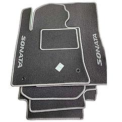 Коврики в салон ворсовые для Hyundai Sonata(IV) 1998 /Хюндай Соната /Чёрные, 5шт