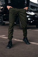 Мужские стильные штаны карго с манжетом хаки Осенние, Весенние, Летние Размеры: S, M, L, XL, XXL, XXXL