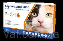 Капли на холку от блох, клещей и глистов для котов Стронгхолд Плюс (Stronghold Plus) весом 2.5-5 кг
