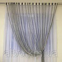 Тюль серпанок з люрексом для будинку квартири кімнати кабінету, штори люрекс в кухню спальню зал, штори-нитки для кухні залу, фото 5