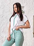 Летний прогулочный костюм Турецкая двунитка Размер 48 50 52 54 56 В наличии 3 цвета, фото 3