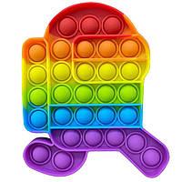 Игрушка-антистресс POP IT Among Us радужный попИт Поп-ты поп-ит разные цвета