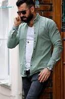 Рубашка мужская с длинным рукавом Rubaska джинсовая Размер S