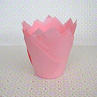 Капсула для кексів (тюльпан ніжно-рожевий) (10 шт.)