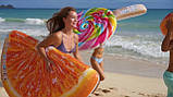 Надувной плот матрас intex ДОЛЬКА АПЕЛЬСИНА 178x85 см пляжный для бассейна и плавания 58763, фото 4