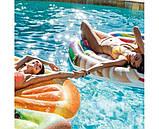 Надувной плот матрас intex ДОЛЬКА АПЕЛЬСИНА 178x85 см пляжный для бассейна и плавания 58763, фото 3