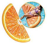Надувной плот матрас intex ДОЛЬКА АПЕЛЬСИНА 178x85 см пляжный для бассейна и плавания 58763, фото 5