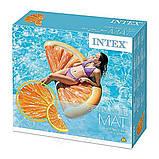 Надувной плот матрас intex ДОЛЬКА АПЕЛЬСИНА 178x85 см пляжный для бассейна и плавания 58763, фото 6